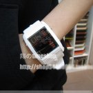 sportive led watch - white