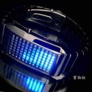 UNISEX Japanese LED WATCH Black CASE & BLUE LED
