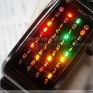 Japanese UNISEX shower  LED WATCH BLACK CASE & multi  LED
