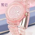 09 Ladies' Fantastic shiny stone watch I- Pink
