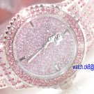 09 Ladies' Fantastic shiny stone watch III- Pink