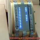 TOKYO  Japanese LED WATCH GOLD & BLUE LED