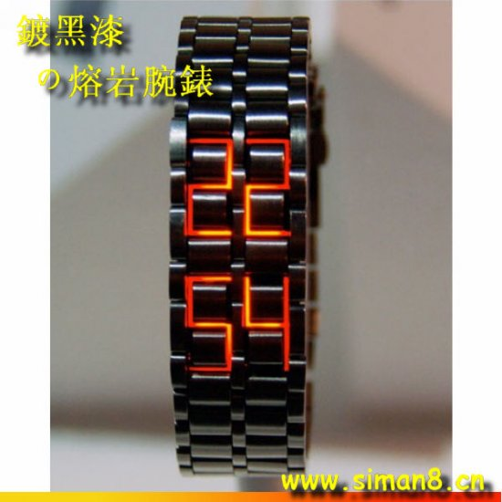 tokyo Japanese LED WATCH black CASE & red LED