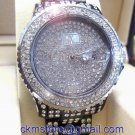 Ladies' Fantastic shiny stone watch- black/white st06