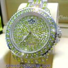 Ladies' Fantastic shiny stone watch- yellow st09