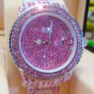 Ladies' Fantastic shiny stone watch- pink st18
