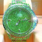 Ladies' Fantastic shiny stone watch- GREEN