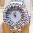 Ladies' Fantastic crystal shiny watch- silver dr01