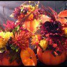 Fall Raffia Pumpkin Centerpiece