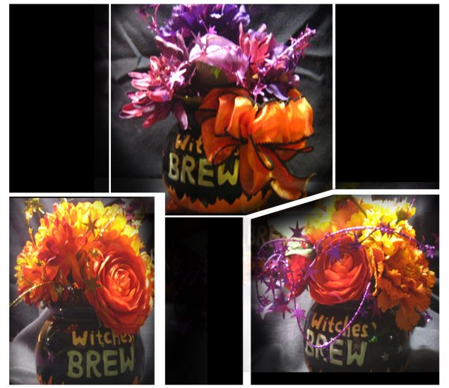 Witches Brew Floral Pots