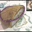 Purple Freshwater pearl and Swarovskis