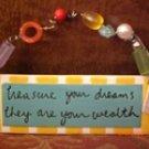 Dept 56 Beautiful Wall or Door Hanging Treasure Your Dreams