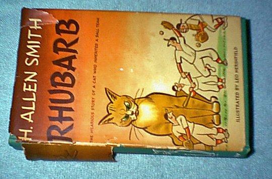 Rhubarb by H. Allen Smith HC 1st edition w/dustjacket