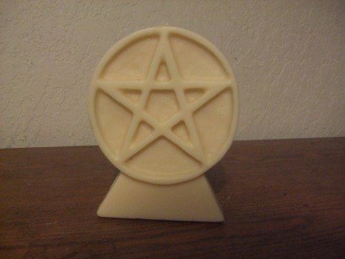 Pentacle candle