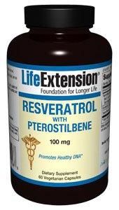 Resveratrol with Pterostilbene - 100 mg 60 vegetarian capsules