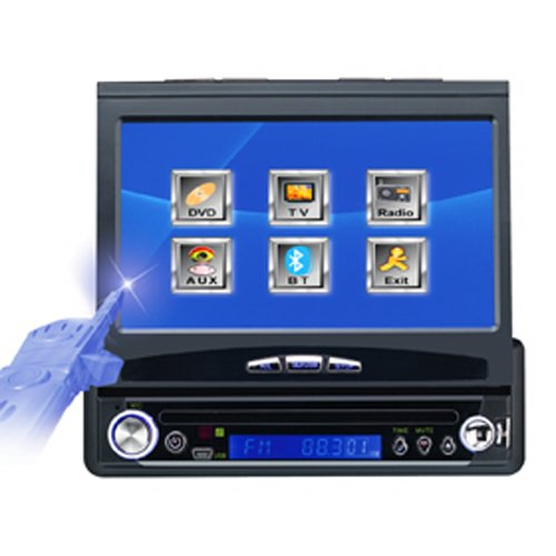 """1-DIN 7"""" Car DVD Player with TV"""