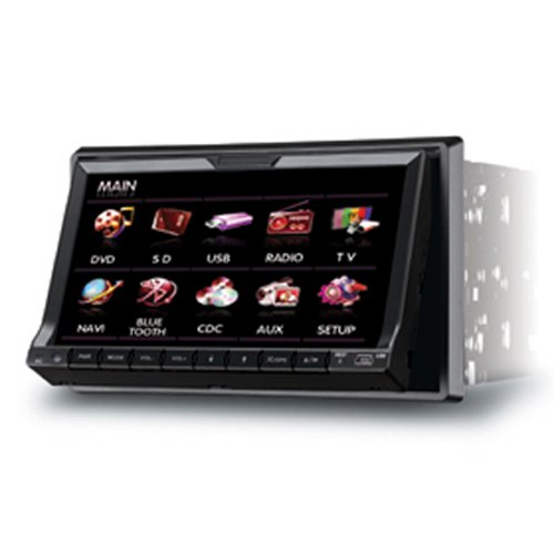 7''Slide down panel Touch Screen Bluetooth GPS Car DVD