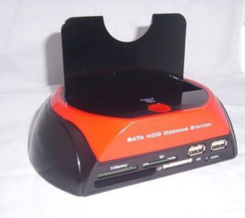 SATA Hard Drive Docking Station + Multi-Format Card Reader