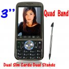 Quad Band Dual SIM Touchscreen Cell Phone