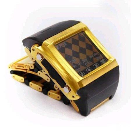 24K Gold Quad-band Watch Phone