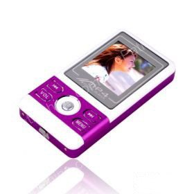 4GB 1.5 Inch MP4 Players With FM Function - Purple