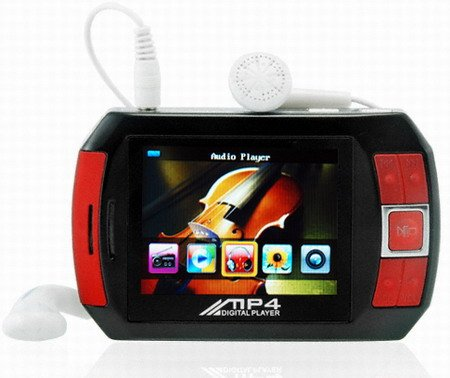 4GB 2.4 Inch True Color TFT LCD Display MP4 Player Built-in Spea