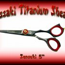 Kissaki Pro Hair 5 inch Sensuki Designer Series Black Titanium Shears / Scissors / Salon / Barber