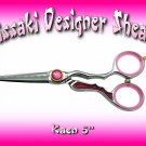 Kissaki Professional Hair Designer 5 inch Kaen Shears / Scissors / Salon