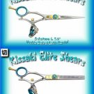 Kissaki Pro Hair Left Handed 5.5 in. Gokatana L & 5.5 in. Kanagawa L 30t Double Swivel Shears Combo