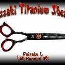 Kissaki Left Handed Pro Hair 5.5 inch Daisaku L Black Titanium 26 tooth Thinning Shears Scissors