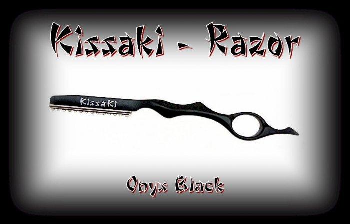 Kissaki Onyx Black Lightweight Professional Hair Styling Feathering Razor / Salon