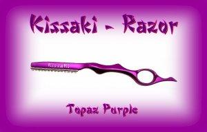 Kissaki Topaz Purple Professional Hair Feathering Razor