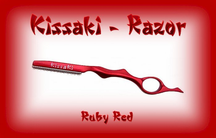Kissaki Ruby Red Professional Hair Feathering Razor