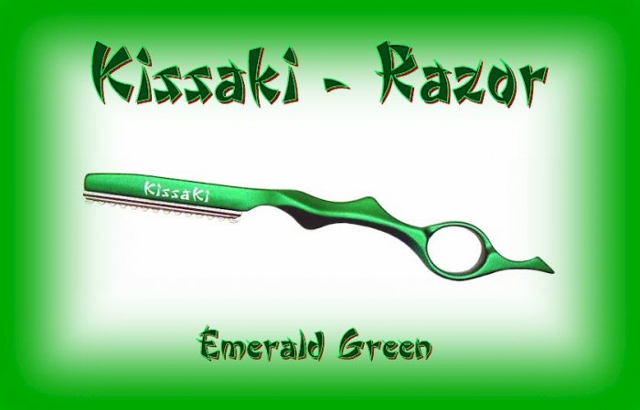 Kissaki Emerald Green Professional Hair Feathering Razor