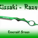 Kissaki Emerald Green Professional Hair Feathering Razor
