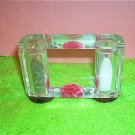 Retro Lucite Rose Salt And Pepper