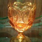 Moon and stars amber goblet