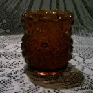 Daisy and button amber large toothpick holder