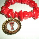 Texas Tech Bottle Cap Bracelet
