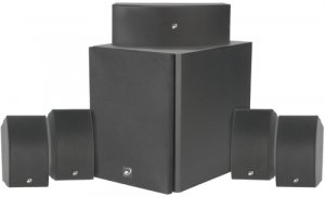 "DAYTON 5.1 HTP-1 5.1 HOME THEATER PACKAGE 8"" POWERED SUBWOOFER"
