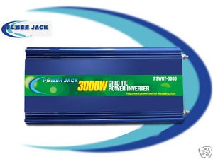 POWER JACK GRID TIE PURE POWER INVERTER 6000 WATTS MAX 3000 WATTS