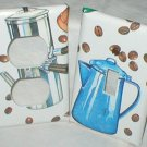 BLUE ENAMELWARE COFFEE POT DESIGN LIGHT SWITCHPLATE SET