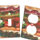 DELI SHOP~SANDWICH DESIGN LIGHT SWITCHPLATE SET