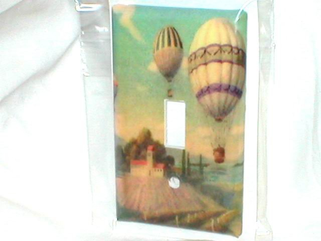 TUSCAN DESIGN HOT AIR BALLOONS LIGHT SWITCHPLATE COVER