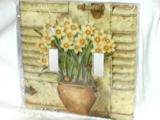 SHABBY DESIGN~FLORALS & SHUTTERS DECORATIVE LIGHT SWITCHPLATE
