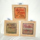 ITALIAN MARKET CRACKLE TRIM PLAQUE SET~OLD WORLD CHARM