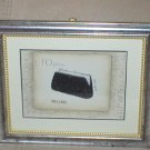 EMILY ADAMS~OPERA BLACK CLUTCH PURSE~SILVER TONE FRAMED PRINT(b)