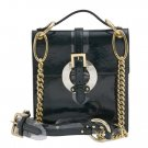 Dolce & Gabbana Patent Leather Chain Strap Handbag - Emerald