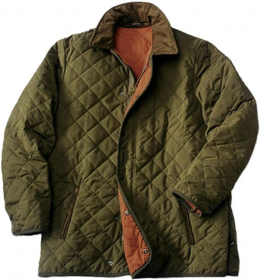 Barbour of England Men's Quilted Hunting Jacket - UK S - US 40/42