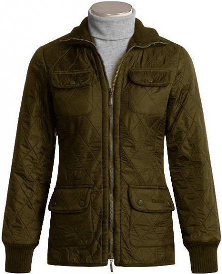 Barbour Women's Ribbed Polarquilt Utility Jacket - UK 14 - US 8/10 - Olive